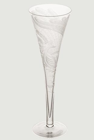 Peacock crystal champagne flute gift set   clear rachel bates interiors ltd treniq 1 1491409596138