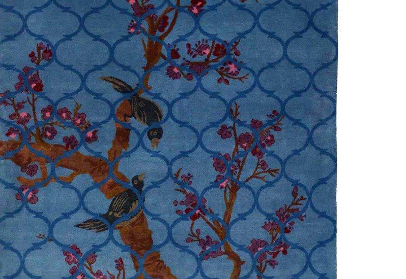 Birds in heaven woolen carpet yak carpet treniq 4