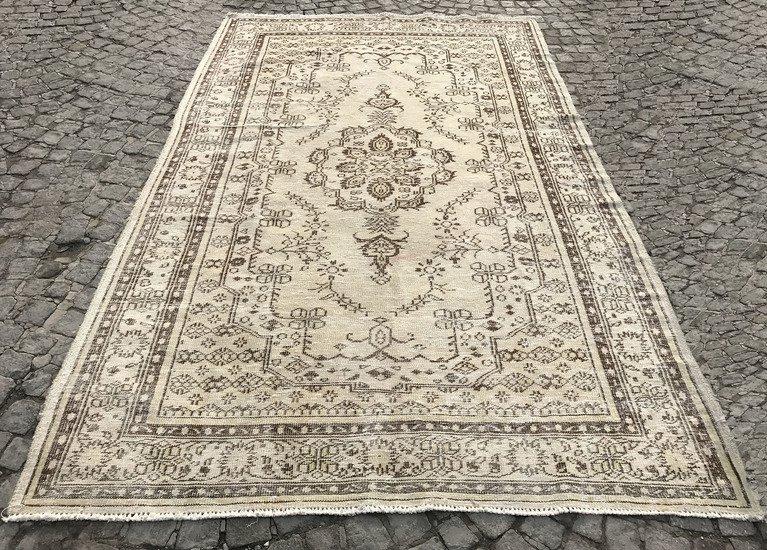 Beige overdyed handmade rug istanbul carpet treniq 1 1491562606878