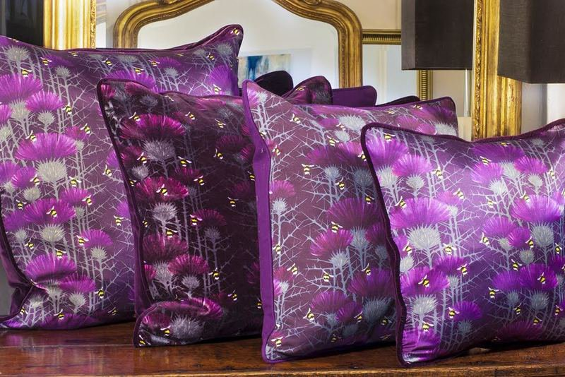 Bill's bees cushion collection in highand purple lux   bloom treniq 5 1491562794729