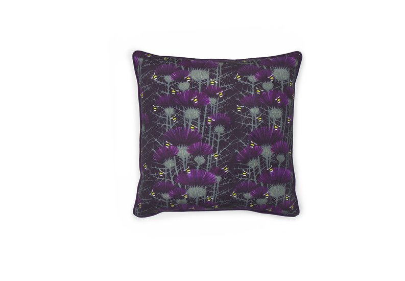 Bill's bees cushion collection in highand purple lux   bloom treniq 5 1491562826090