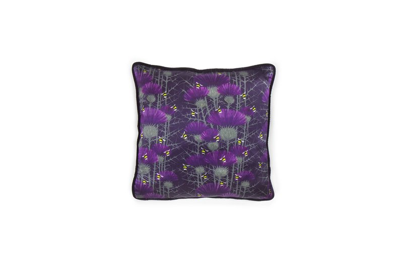 Bill's bees cushion collection in highand purple lux   bloom treniq 5 1491562834534