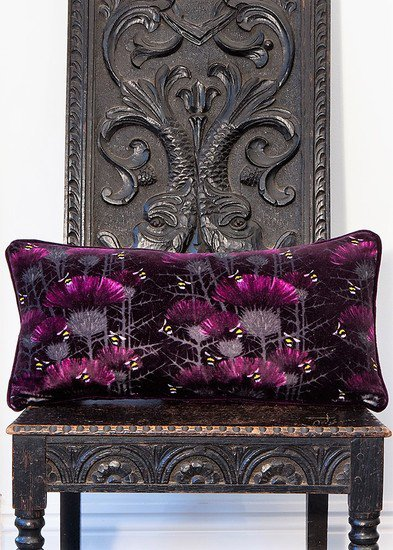 Bill's bees cushion collection in highand purple lux   bloom treniq 5 1491562864557