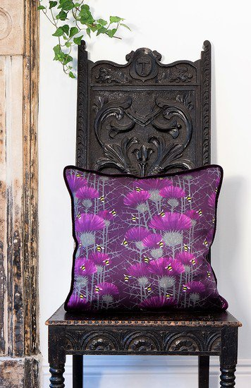 Bill's bees cushion collection in highand purple lux   bloom treniq 5 1491562876929
