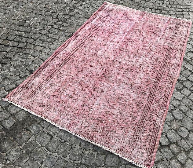 Vintage pink overdyed rug istanbul carpet treniq 1 1491564186185