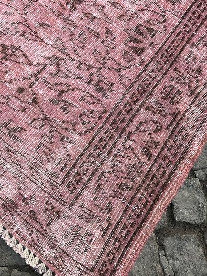Vintage pink overdyed rug istanbul carpet treniq 1 1491564186186