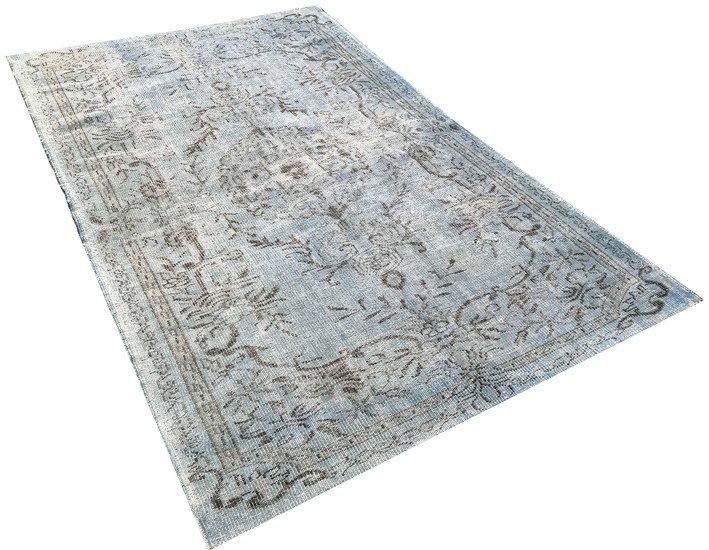 Aqua blue overdyed handmade rug istanbul carpet treniq 1 1491567825918