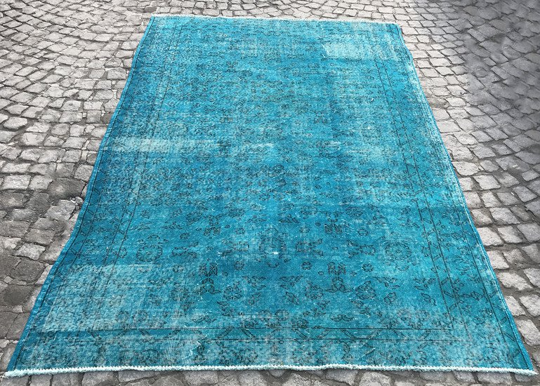 Turquoise blue handmade turkish rug istanbul carpet treniq 1 1491568013290