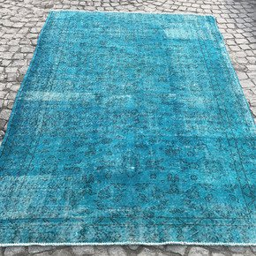 Turquoise-Blue-Handmade-Turkish-Rug_Istanbul-Carpet_Treniq_0