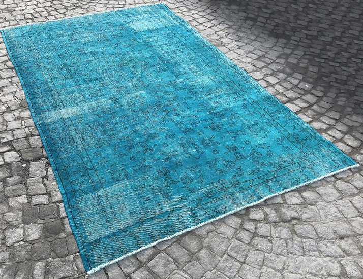 Turquoise blue handmade turkish rug istanbul carpet treniq 1 1491568013292