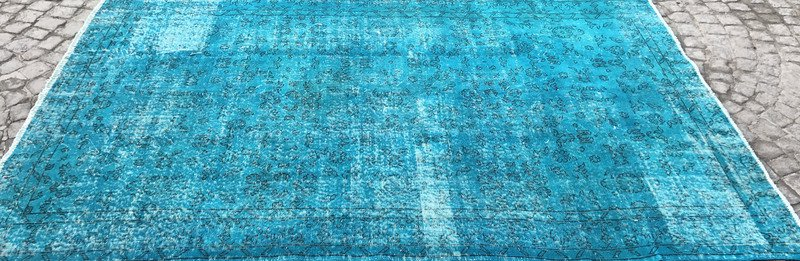 Turquoise blue handmade turkish rug istanbul carpet treniq 1 1491568013293
