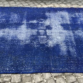 Navy-Blue-Overdyed-Handmade-Rug-Vintage-Turkish-Carpet_Istanbul-Carpet_Treniq_0
