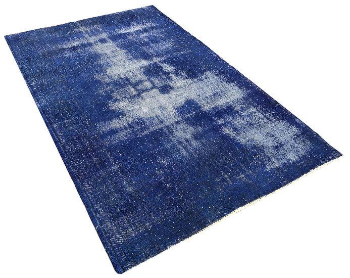 Navy blue overdyed handmade rug   vintage turkish carpet istanbul carpet treniq 1 1491568838129