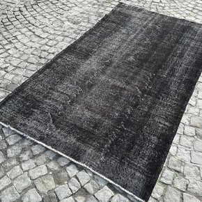 Black-Overdyed-Handmade-Rug-Vintage-Turkish-Carpet_Istanbul-Carpet_Treniq_0
