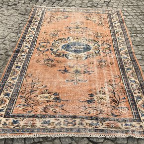 Orange-And-Blue-Overdyed-Handmade-Rug_Istanbul-Carpet_Treniq_0
