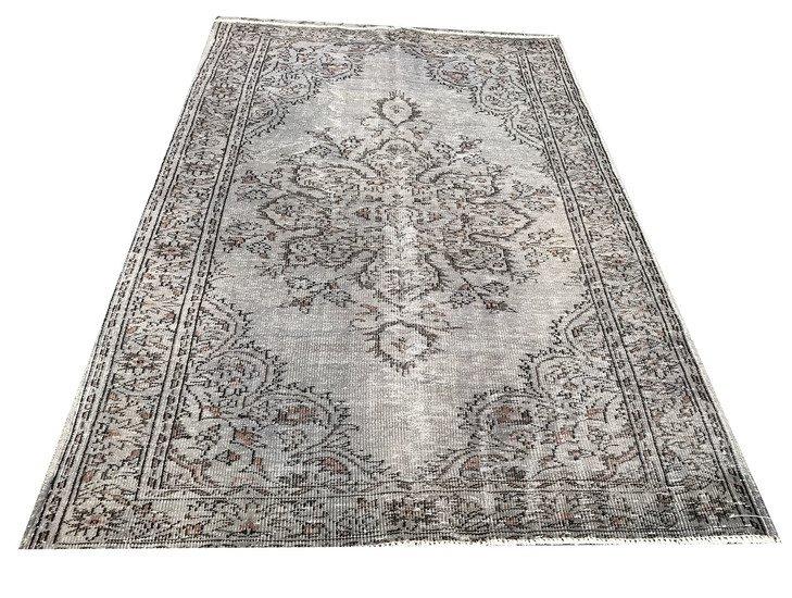 Gray and brown overdyed handmade rug istanbul carpet treniq 1 1491575066059