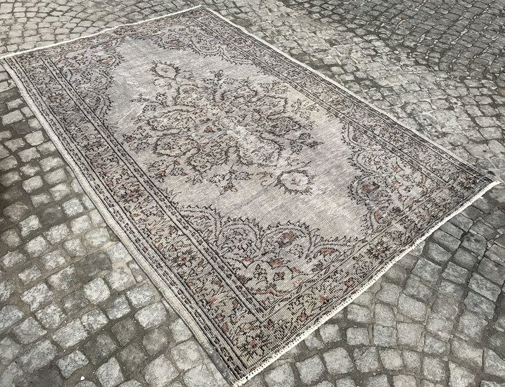 Gray and brown overdyed handmade rug istanbul carpet treniq 1 1491575066061