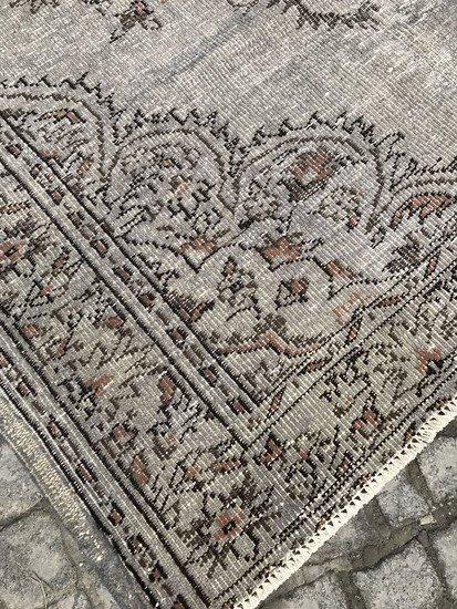 Gray and brown overdyed handmade rug istanbul carpet treniq 1 1491575066062