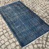 Navy blue overdyed handmade rug   vintage turkish muted carpet istanbul carpet treniq 1 1491576582769