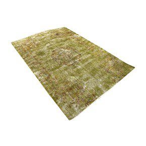 Greenish-Yellow-Overdyed-Handmade-Rug-Vintage-Turkish-Muted-Carpet_Istanbul-Carpet_Treniq_0