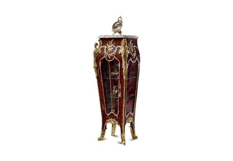 Francois linke louis xv style gilt ormolu mounted vitrine pedestal antique taste treniq 1 1491654641844