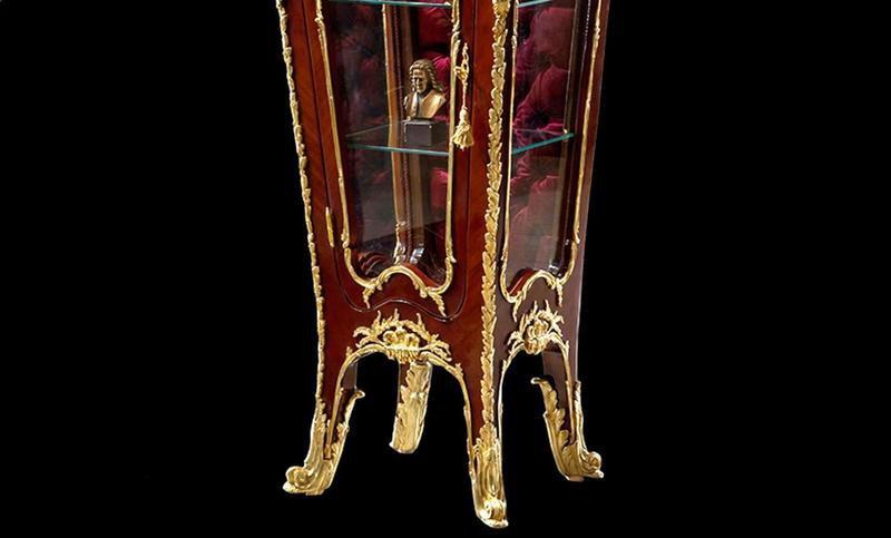 Francois linke louis xv style gilt ormolu mounted vitrine pedestal antique taste treniq 1 1491654641846
