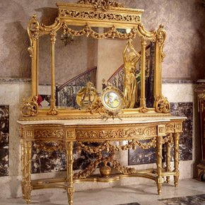 Italian-19th-C.-Louis-Xvi-Style-Carved-And-Gilt-Wood-Grand-Mirrored-Console_Antique-Taste_Treniq_0