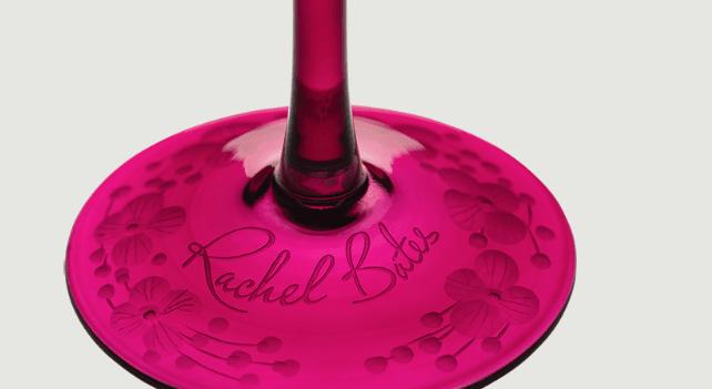 Isadora crystal champagne saucer   fuschsia  rachel bates interiors ltd treniq 1 1491838349089