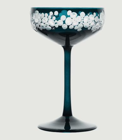 Isadora crystal champagne saucer   peacock blue rachel bates interiors ltd treniq 1 1491840494522
