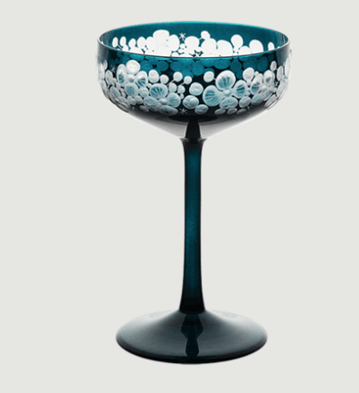 Isadora crystal champagne saucer   peacock blue rachel bates interiors ltd treniq 1 1491840496331