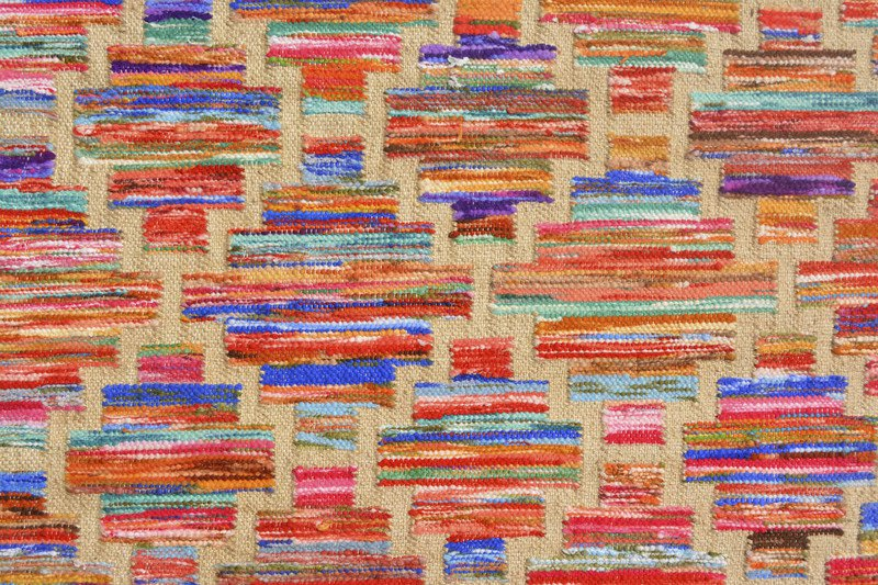 Rainbow handwoven cotton durry yak carpet  treniq 1 1491897376113