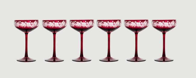 Isadora crystal champagne saucer   fuschsia  rachel bates interiors ltd treniq 8 1491997293676