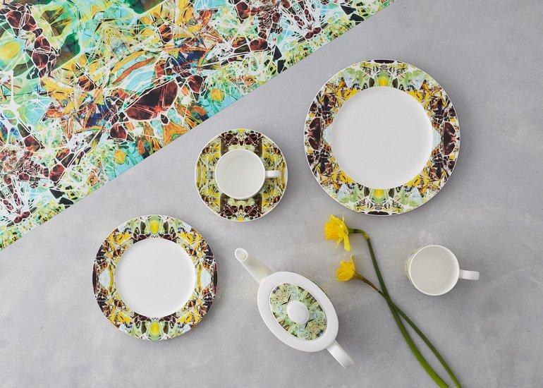 Kaleidoscope teacup and saucer spring designers atelier treniq 1 1492356176521