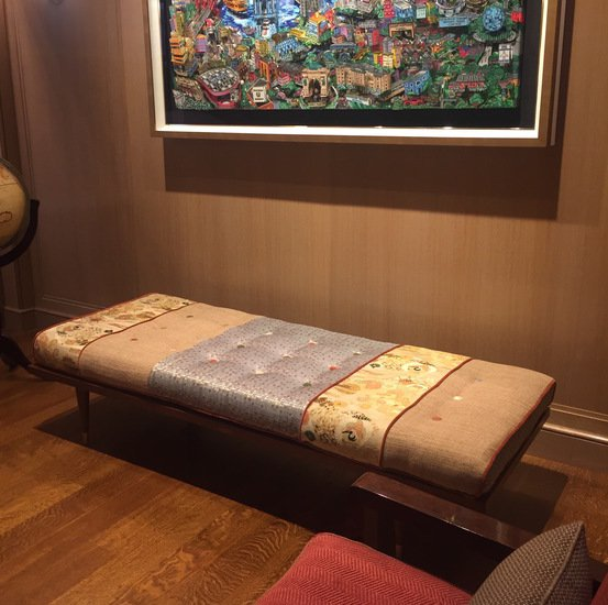 Midcentury inspired daybed  handmade with vintage obi five finger furnishings treniq 1 1492536310008
