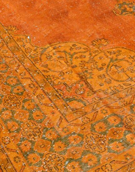 Oversized orange overdyed handmade rug   vintage oushak carpet istanbul carpet treniq 1 1493206772470