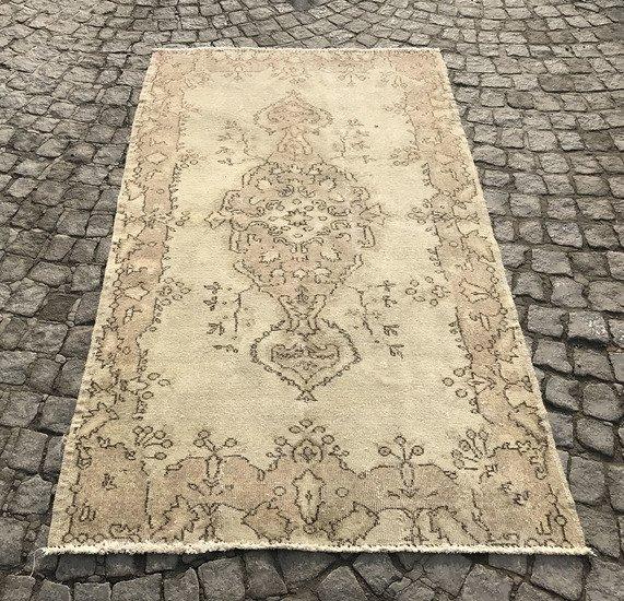 Beige cream overdyed handmade rug istanbul carpet treniq 1 1493210228902