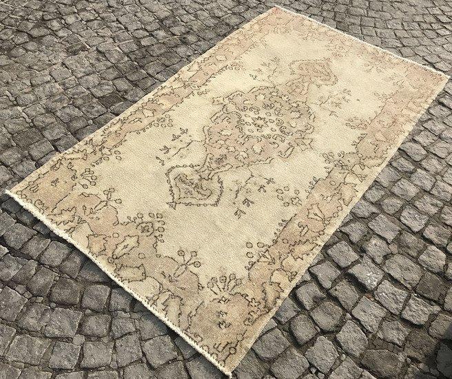 Beige cream overdyed handmade rug istanbul carpet treniq 1 1493210228899