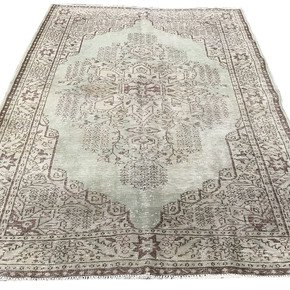 Light-Green-Overdyed-Handmade-Rug-Vintage-Turkish-Pastel-Green-Carpet_Istanbul-Carpet_Treniq_0