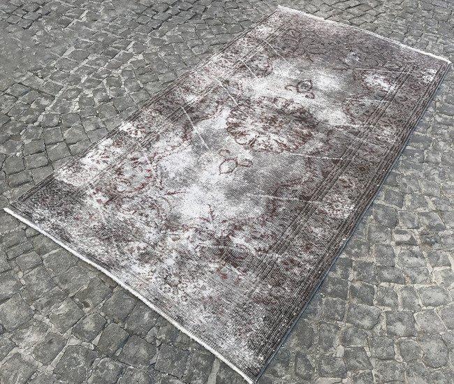 Green overdyed handmade rugs   vintage turkish oushak rug istanbul carpet treniq 1 1493218236370