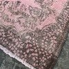 Pink overdyed turkish rug   handmade vintage oushak carpet istanbul carpet treniq 1 1493219730958