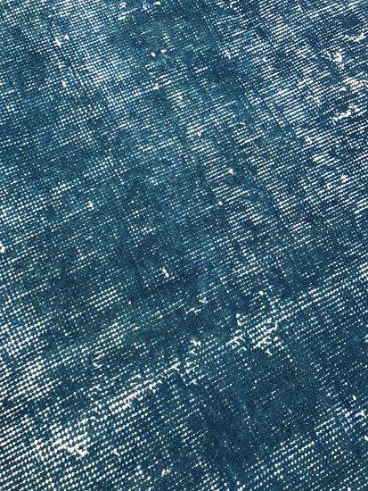 Blue handmade overdyed oushak rug   vintage turkish muted carpet istanbul carpet treniq 1 1493288853273