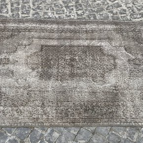 Grey-Overdyed-Turkish-Rug-Handmade-Vintage-Oushak-Carpet_Istanbul-Carpet_Treniq_0
