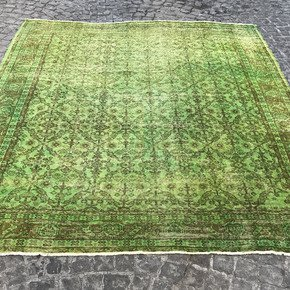 Green-Square-Over-Dyed-Handmade-Rug-_Istanbul-Carpet_Treniq_0