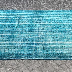 Blue-Handmade-Overdyed-Oushak-Rug-Vintage-Turkish-Muted-Carpet_Istanbul-Carpet_Treniq_0