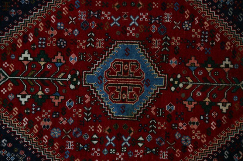 Hand knotted persian afshari rug cheval treniq 1 1493590575434