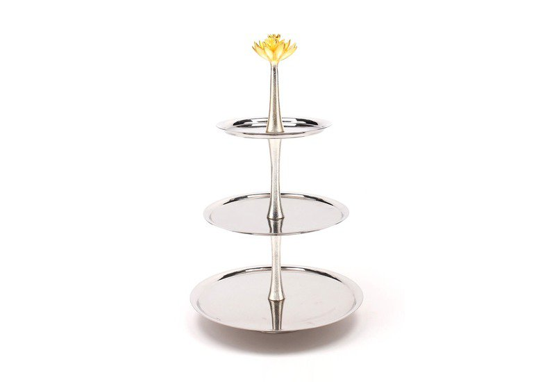 3 tier cake stand lotus collection home n earth treniq 1
