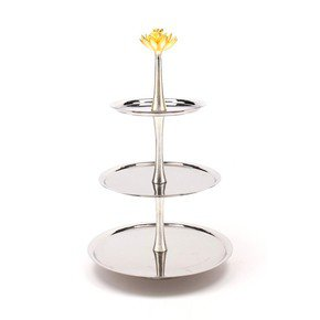 3 Tier Cake Stand - Lotus Collection - Home N Earth -