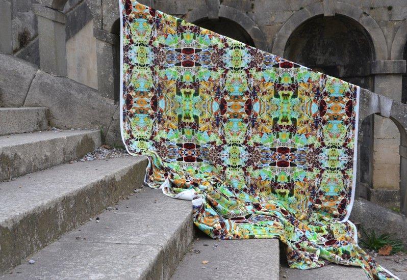 Kaleidoscope velvet spring fabric designer's atelier treniq 2 1494469188360