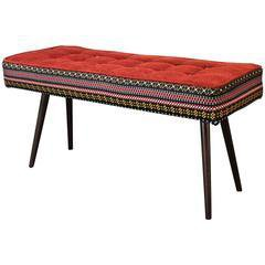 Studio series bench  folklorica with flame red seat five finger furnishings treniq 1 1494609177052
