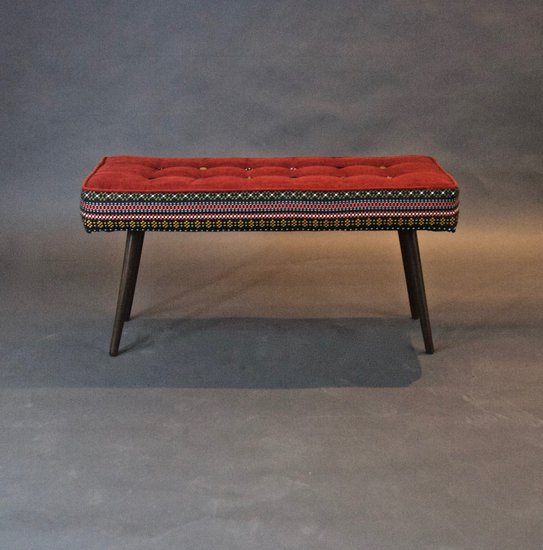 Studio series bench  folklorica with flame red seat five finger furnishings treniq 1 1494609304847